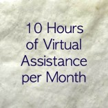 10 hour monthly retainer for virtual assistant services