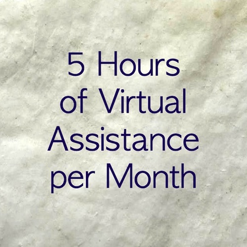 5 hour monthly retainer for virtual assistant services