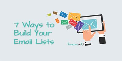 7 More Ways to Build Your Email Lists