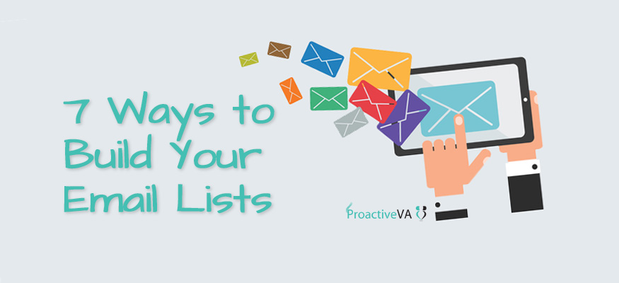 7 Ways to Build Your Email Lists