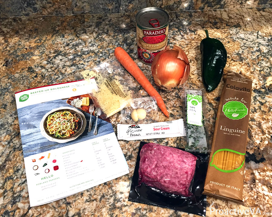 Hello Fresh Beefed-Up Bolognese