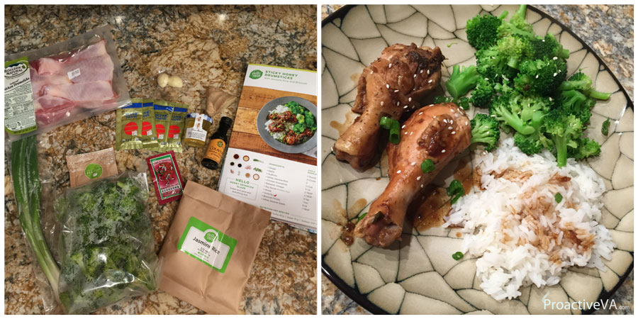 Hello Fresh Sticky Honey Drumsticks