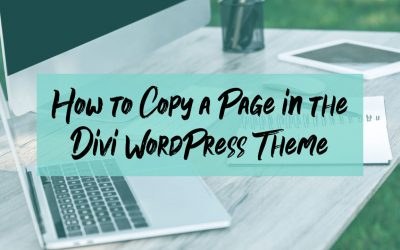 How to Copy a Page Using the Divi Theme