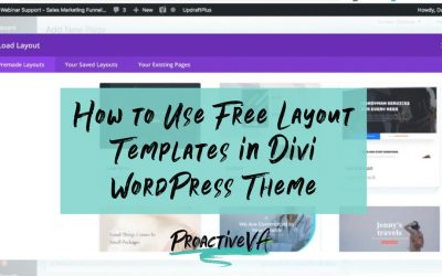 How to Use Layout Templates in Divi WordPress Theme