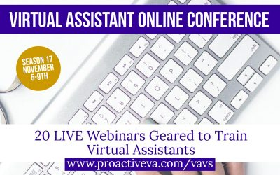 20 LIVE Virtual Assistant Training Webinars for Only $37!