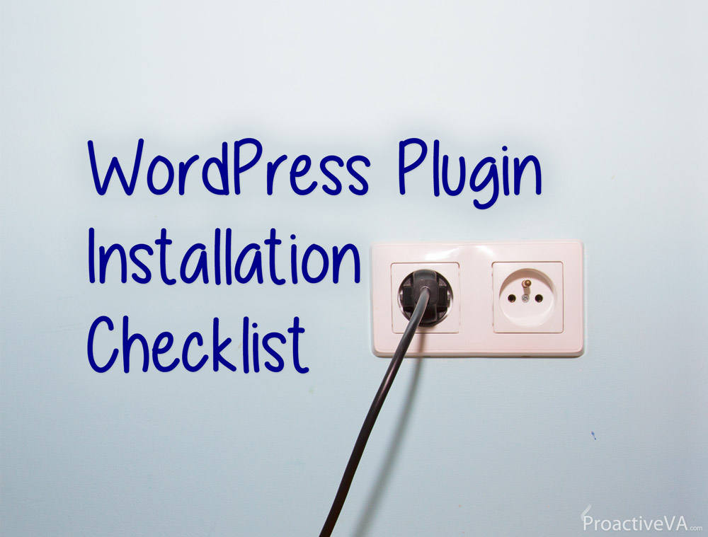 WordPress Plugin Installation Checklist