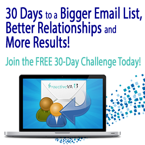 30 Days to a Bigger Email List, Better Relationships and More Results