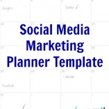 Social Media Marketing Planner Template