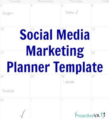 Social Media Marketing Planner Template